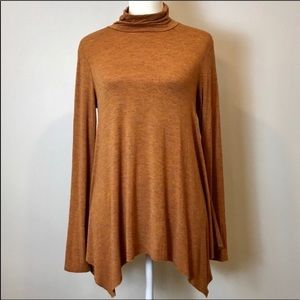 AE Soft & Sexy Rust Orange Turtleneck Shirt